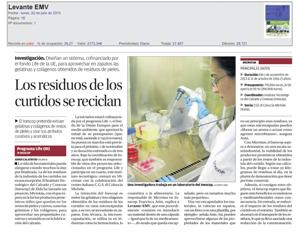 Press release at Diario Levante